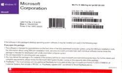 Microsoft Windows 10 PRO Oem DVD EN/IT € 108,00