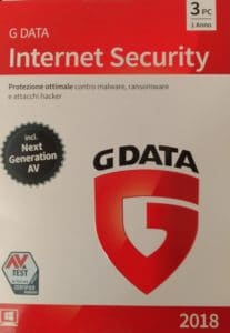 G Data Internet Security 2018 1 Anno 3 Computer