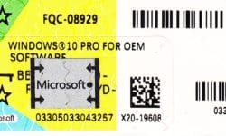Microsoft Windows 10 PRO Oem IT COA